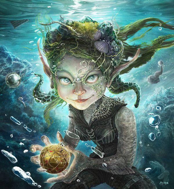 creature fantastique aquatiques
